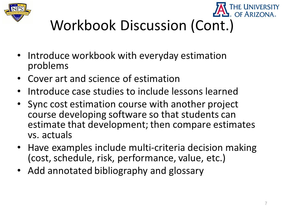 Example Exercise (Cont.) 28 Coverage: Systems and software lifecycle costs; equivalent size; time value of money; tradeoff analysis; military application