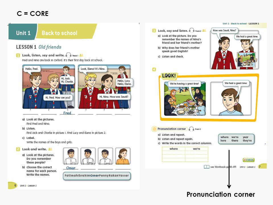 Pronunciation corner C = CORE