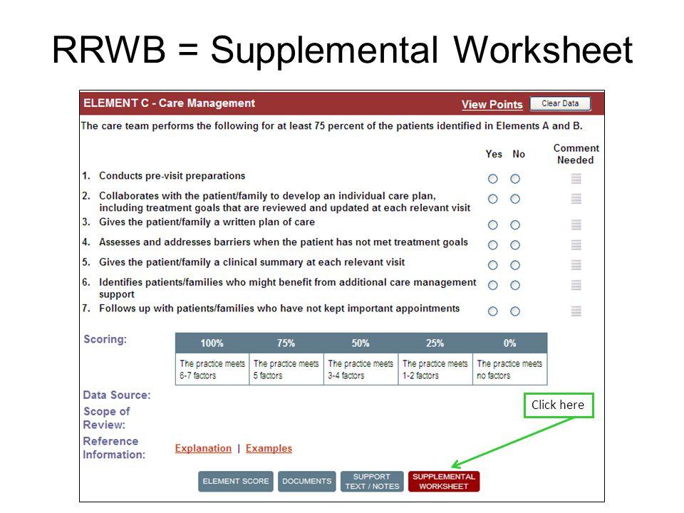 RRWB = Supplemental Worksheet Click here