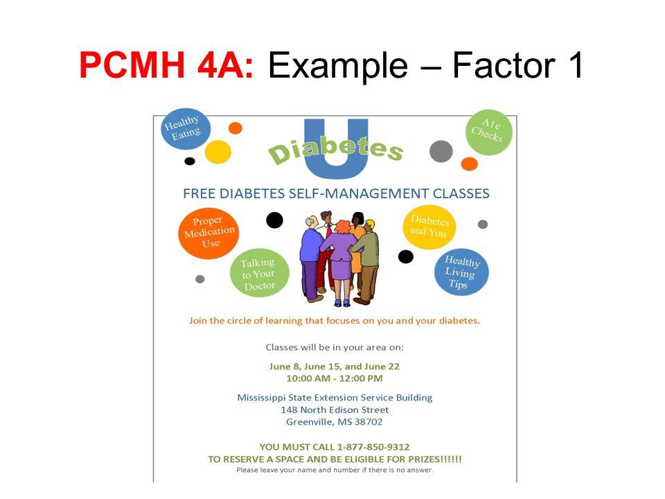 PCMH 4A: Example – Factor 1