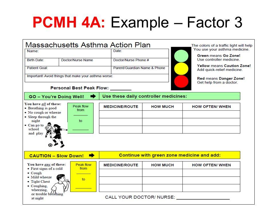 PCMH 4A: Example – Factor 3