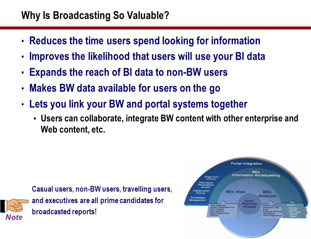 7 Different Needs and Tools The information needs of the user communities are different Flat reporting Formatted Formatted Print Print Form based Form based Static Static Predictable access Predictable access OLAP reporting Drill down Drill down Slice and dice Slice and dice Analyze Analyze Data mining Data mining Search and discover Search and discover KPI & scorecard Formatted Simple Simple Easy to view Easy to view Limited nav Limited nav Aggregates Aggregates