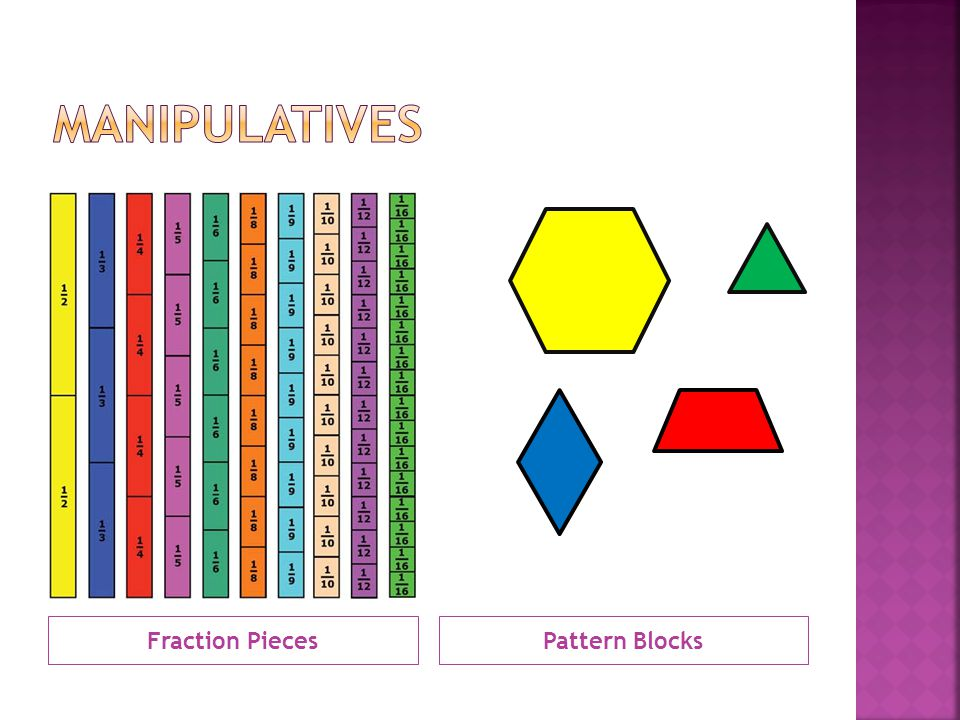 Fraction PiecesPattern Blocks