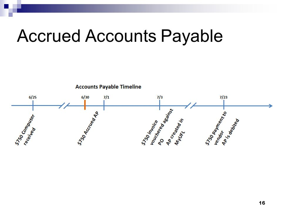 Accrued Accounts Payable 16