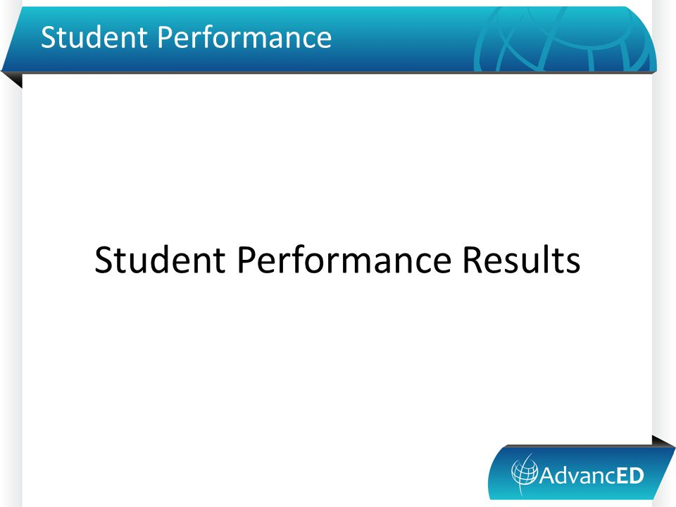 Student Performance Student Performance Results