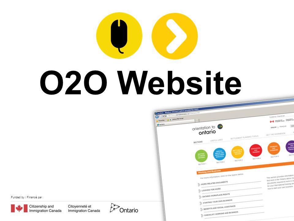 Funded by / Financé par O2O Website