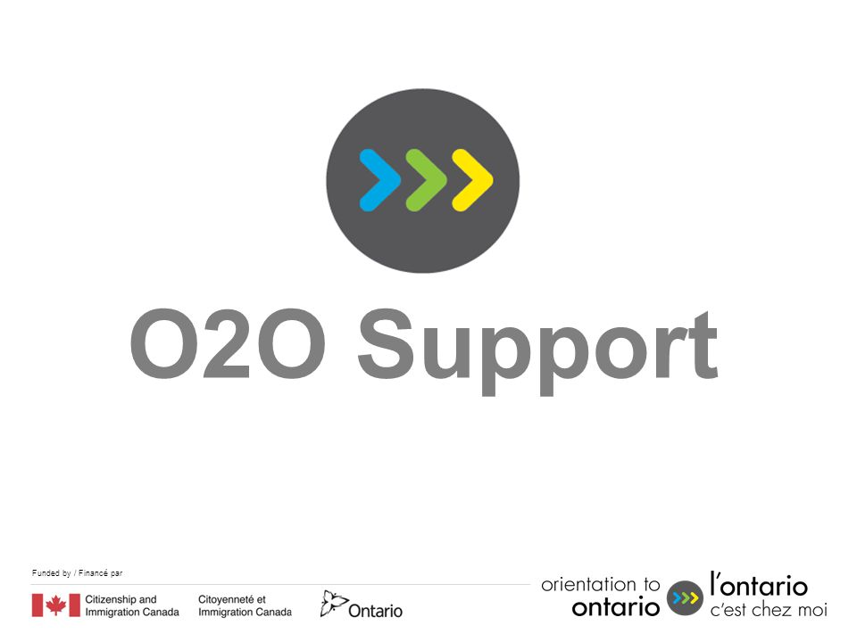 Funded by / Financé par O2O Support