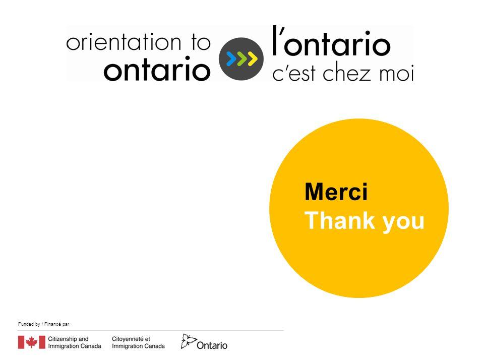 Funded by / Financé par Merci Thank you