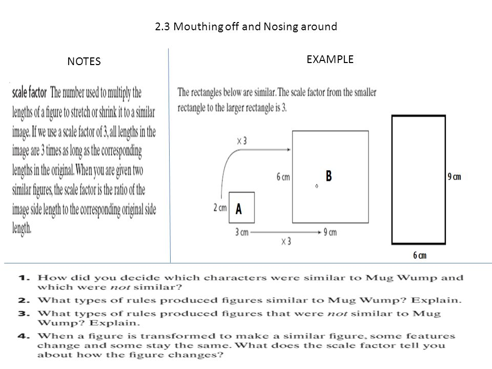 2.3 Mouthing off and Nosing around NOTES EXAMPLE