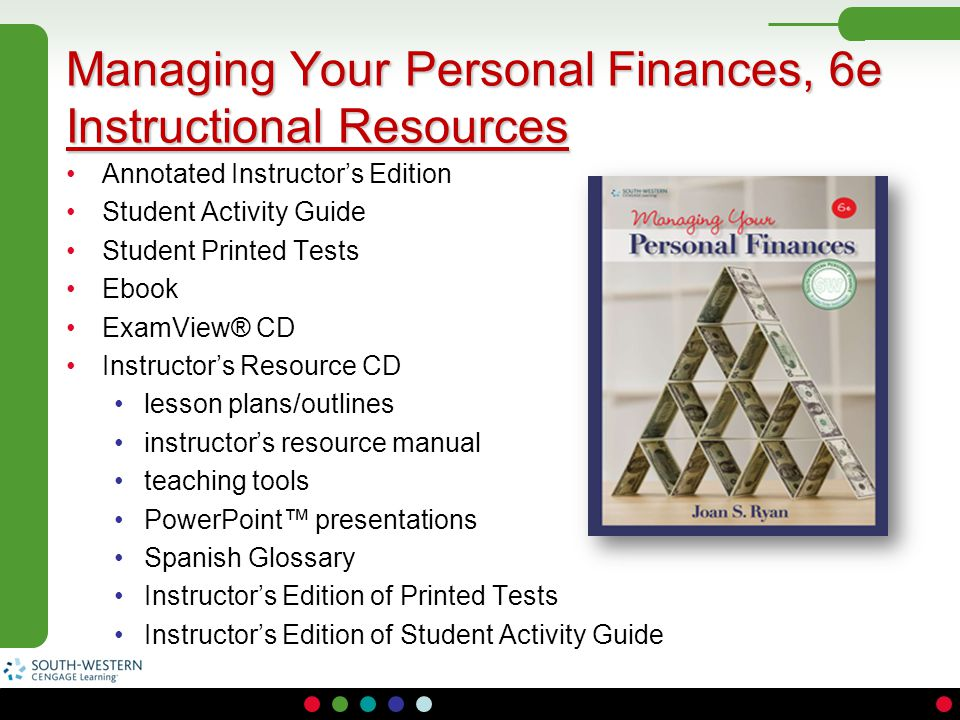 Annotated Instructor's Edition Student Activity Guide Student Printed Tests Ebook ExamView® CD Instructor's Resource CD lesson plans/outlines instruct