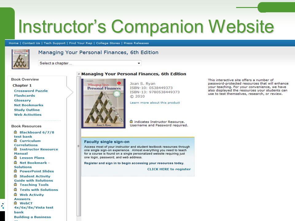 Instructor's Companion Website
