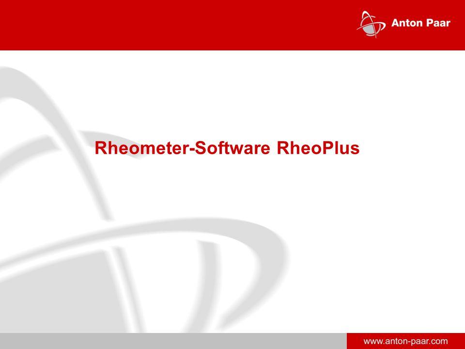 www.anton-paar.com Rheometer-Software RheoPlus