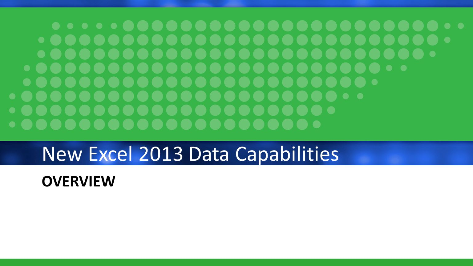 POWER PRO New Excel Features