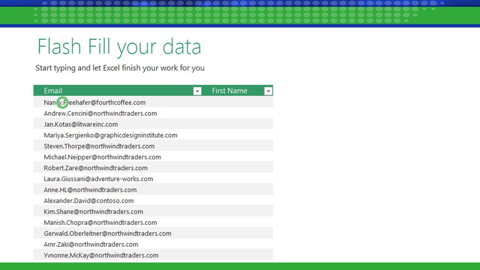 Excel Blogs http://blogs.office.com/excel/