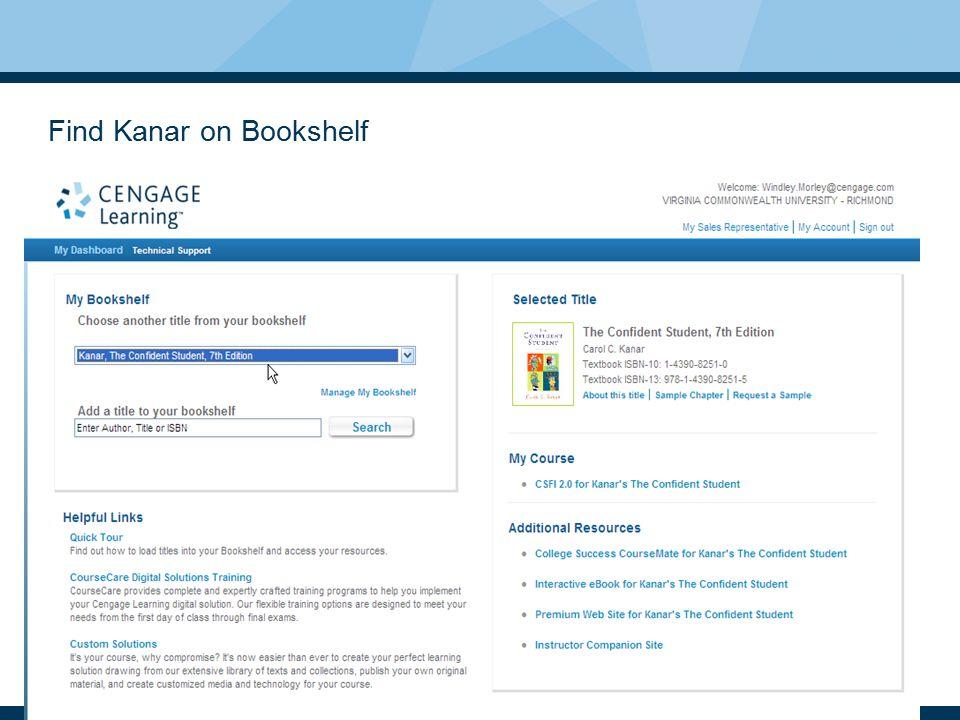 Find Kanar on Bookshelf