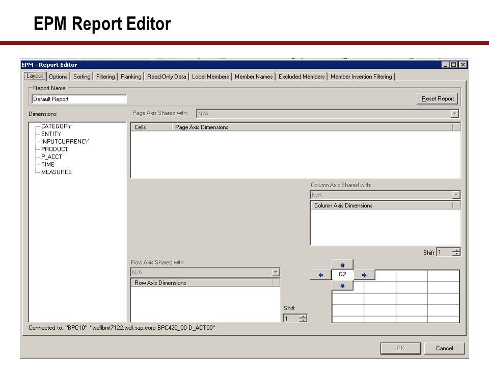 EPM Report Editor
