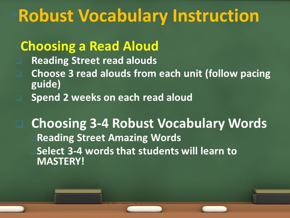 Choosing a Read Aloud  Reading Street read alouds  Choose 3 read alouds from each unit (follow pacing guide)  Spend 2 weeks on each read aloud  Ch