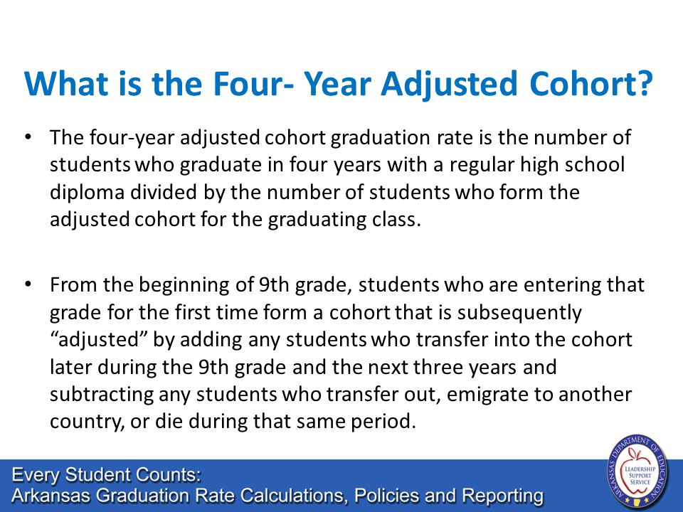 What is the Four- Year Adjusted Cohort.