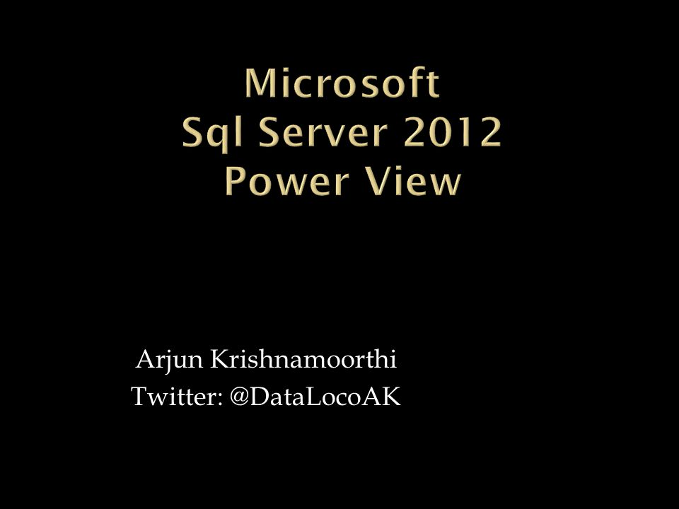 Arjun Krishnamoorthi Twitter: @DataLocoAK