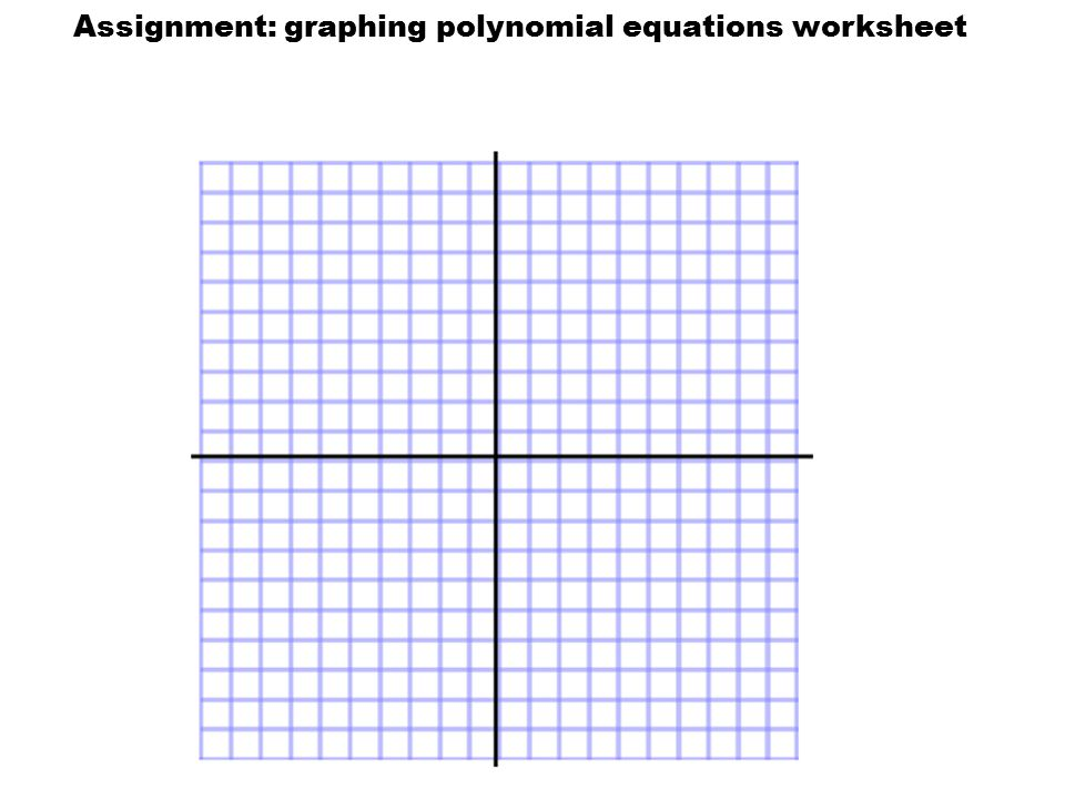 Assignment: graphing polynomial equations worksheet