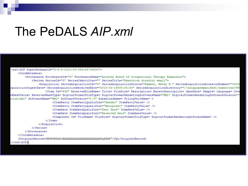 The PeDALS AIP.xml