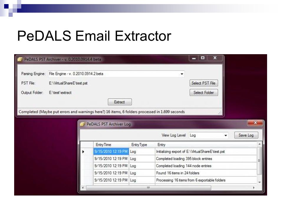 PeDALS Email Extractor