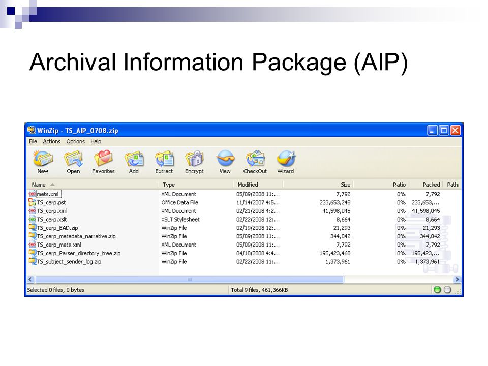 Archival Information Package (AIP)