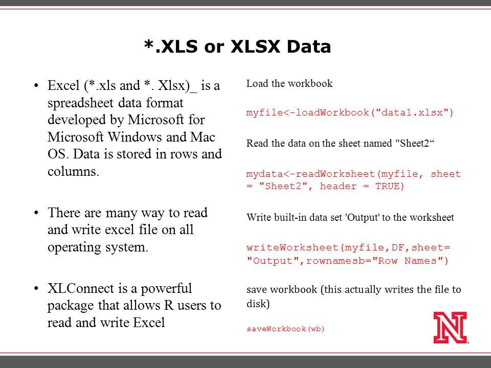 SPSS, Stata and SAS Data R supports SPSS (*.sav), Stata(*.dta), and SAS(*.xpt) data files.