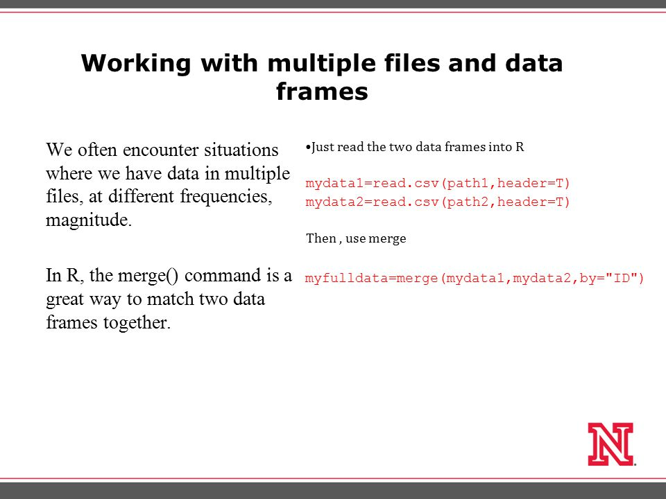 Subsetting Data There are many reasons to remove variables from the data frame.