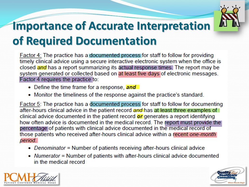 Importance of Accurate Interpretation of Required Documentation 7
