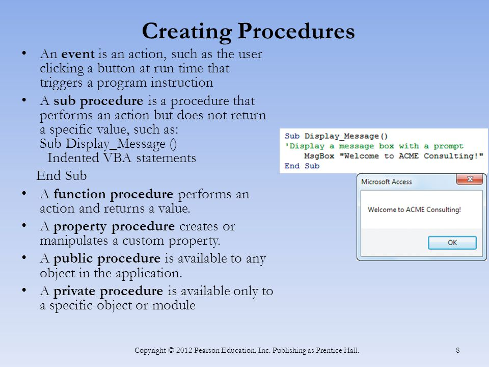 Getting Help and Debugging Errors Use Help to learn more about VBA.