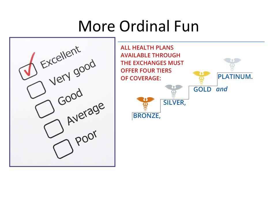 More Ordinal Fun