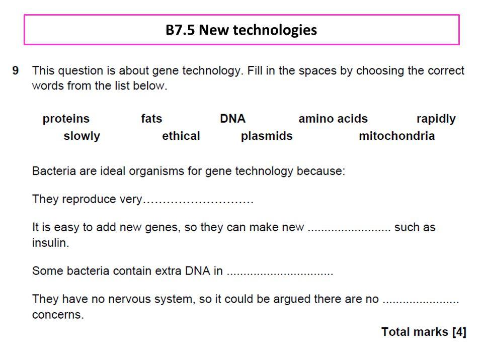 B7.5 New technologies