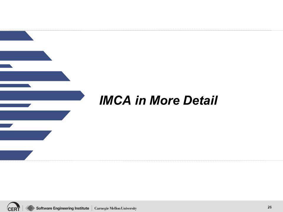 26 IMCA in More Detail