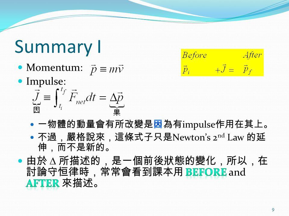 Summary I 9