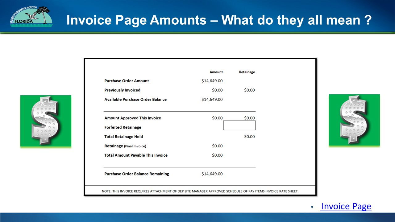 Invoice Page Amounts – What do they all mean Invoice Page Invoice Page