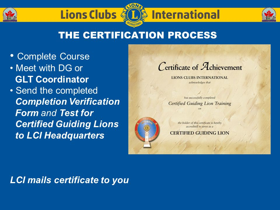 LIONS CLUBS INTERNATIONALCertified Guiding Lion (CGL08) Managing a Club at www.lionsclubs.org This webpage includes links to the following: Access to the Club Resource Center and frequently used forms, publications and information PR Tools to help communicate the club's activities Finance information you need to manage club funds Strategies to strengthen membership A free E-Clubhouse Web site for your new Lions club Get Off to a Good Start – Become an Information Expert.