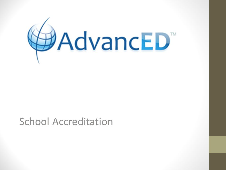 What is AdvancED's accreditation.All schools in Nebraska are required to be accreditated.