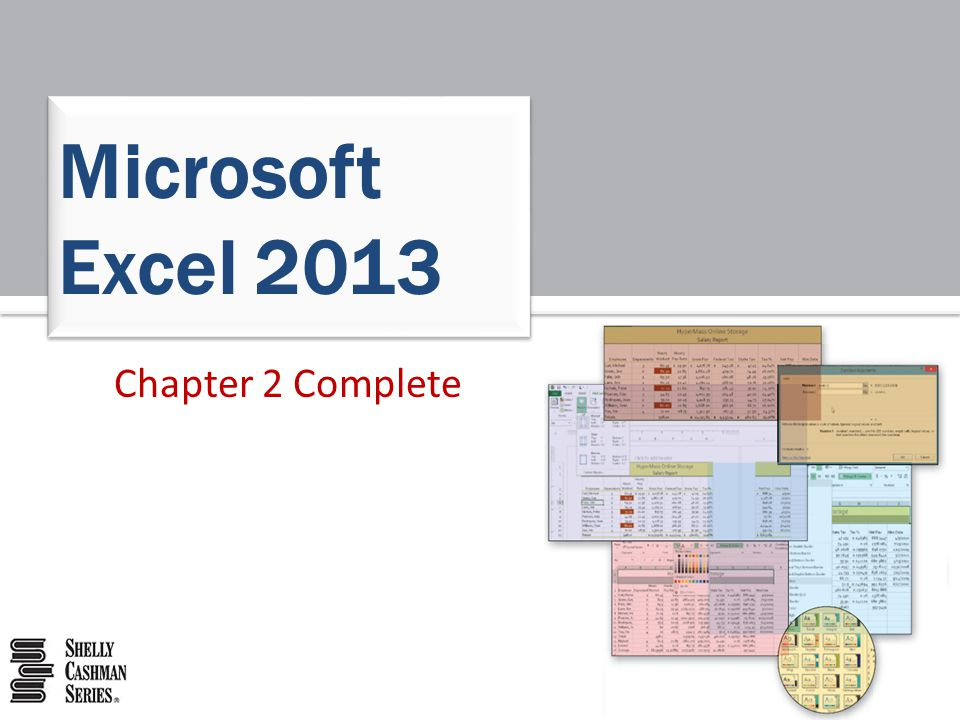 Chapter 2 Complete Microsoft Excel 2013