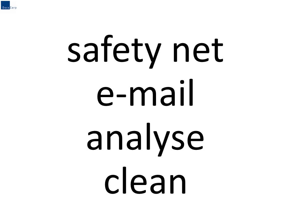 safety net e-mail clean analyse