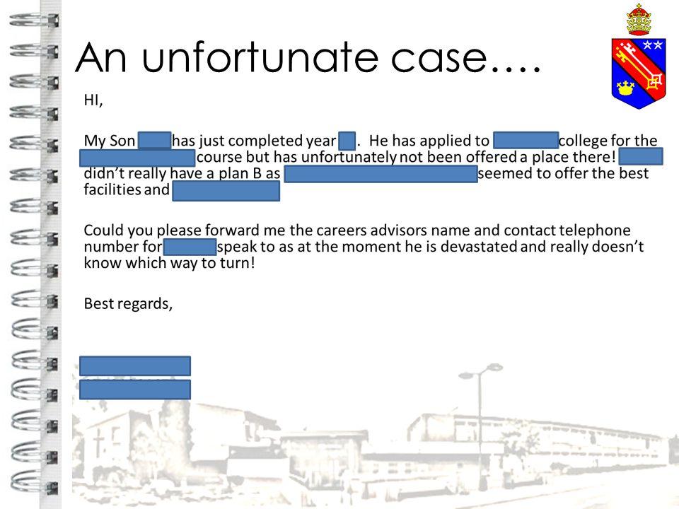 An unfortunate case….