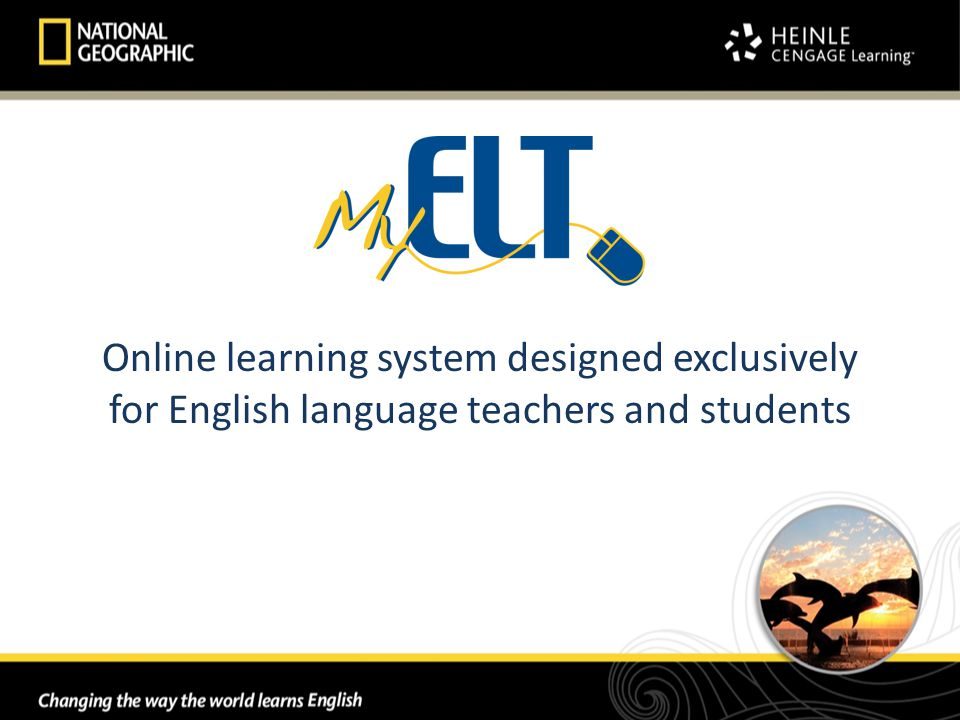 Online learning system designed exclusively for English language teachers and students