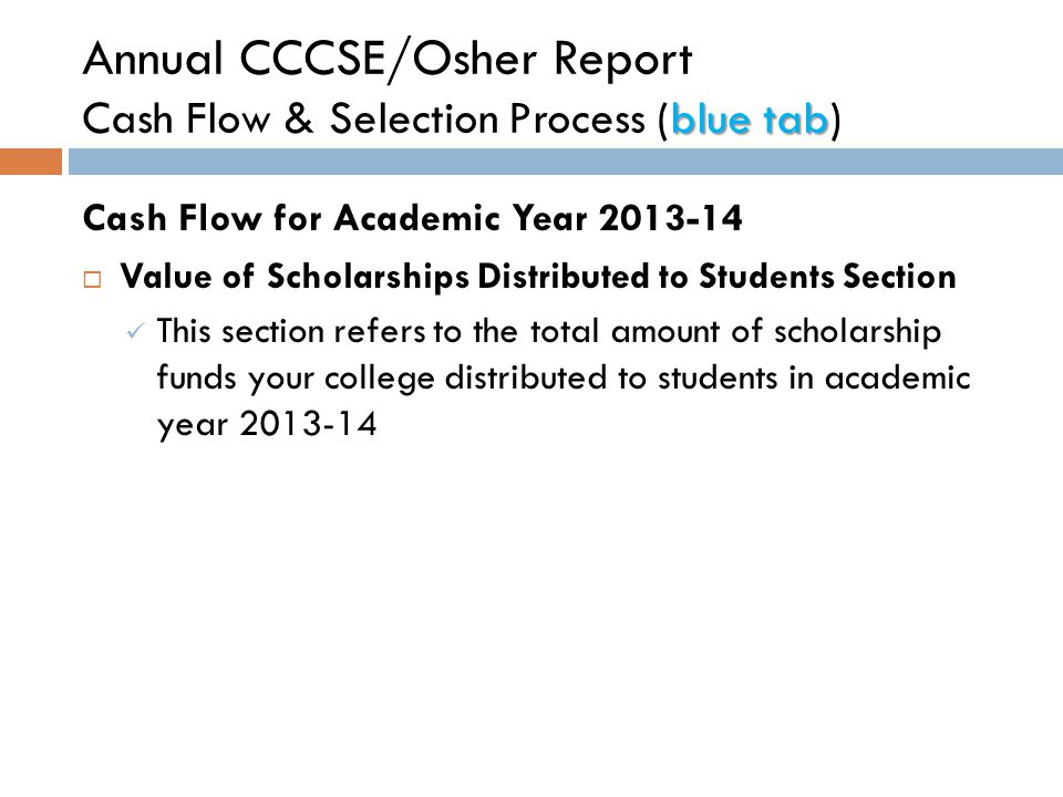 Purpose  Standardize college reporting for FA Program expenditures.
