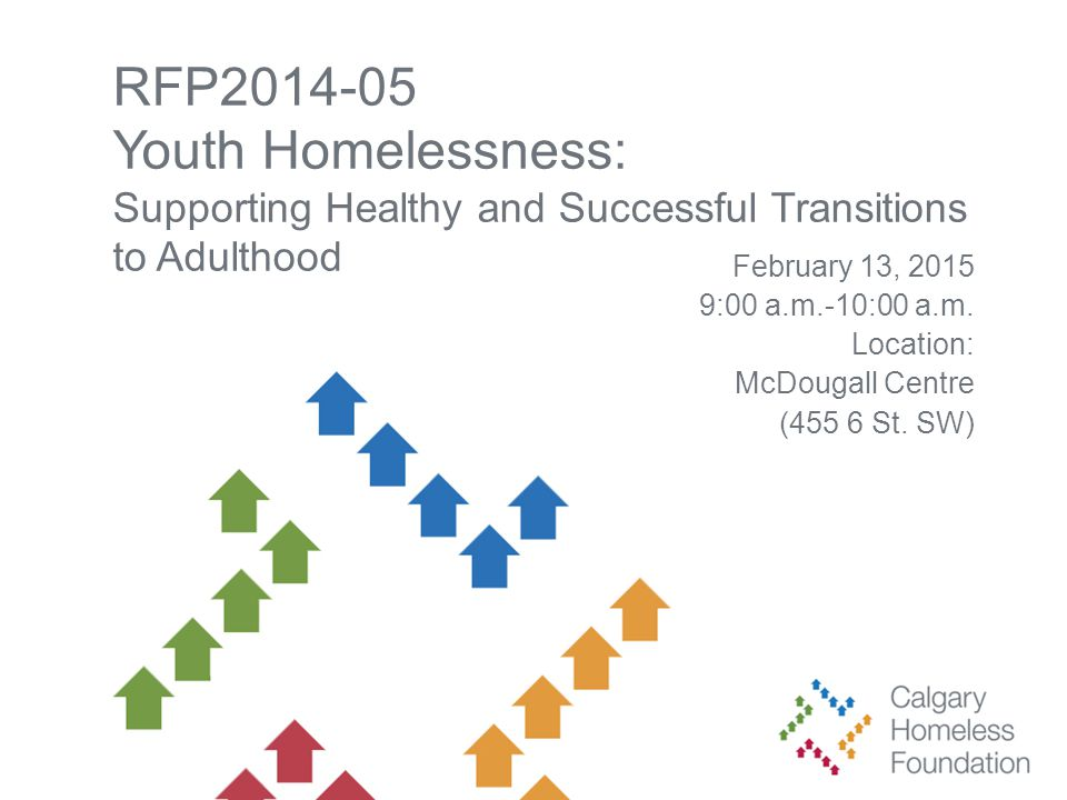 RFP2014-05 Youth Homelessness: Supporting Healthy and Successful Transitions to Adulthood February 13, 2015 9:00 a.m.-10:00 a.m.
