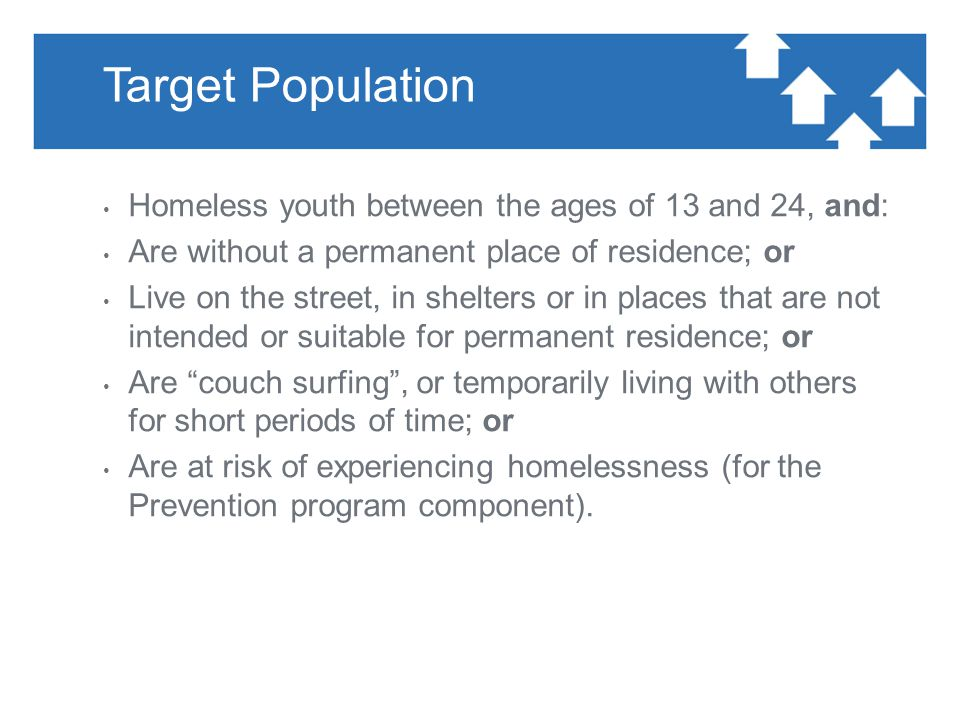 Key Proposal Elements Align with Plan to End Youth Homelessness in Calgary (2011); emphasis: ― preventing youth homelessness and ― supporting young people in making a successful transition to adulthood Proponents are encouraged to include service delivery methodologies ― reflect a housing first approach, ― promote family re-connection/re-unification, ― strengthen natural supports ― promote positive transitions to adulthood, and ― address the unique service needs of Aboriginal and LGBTQ youth