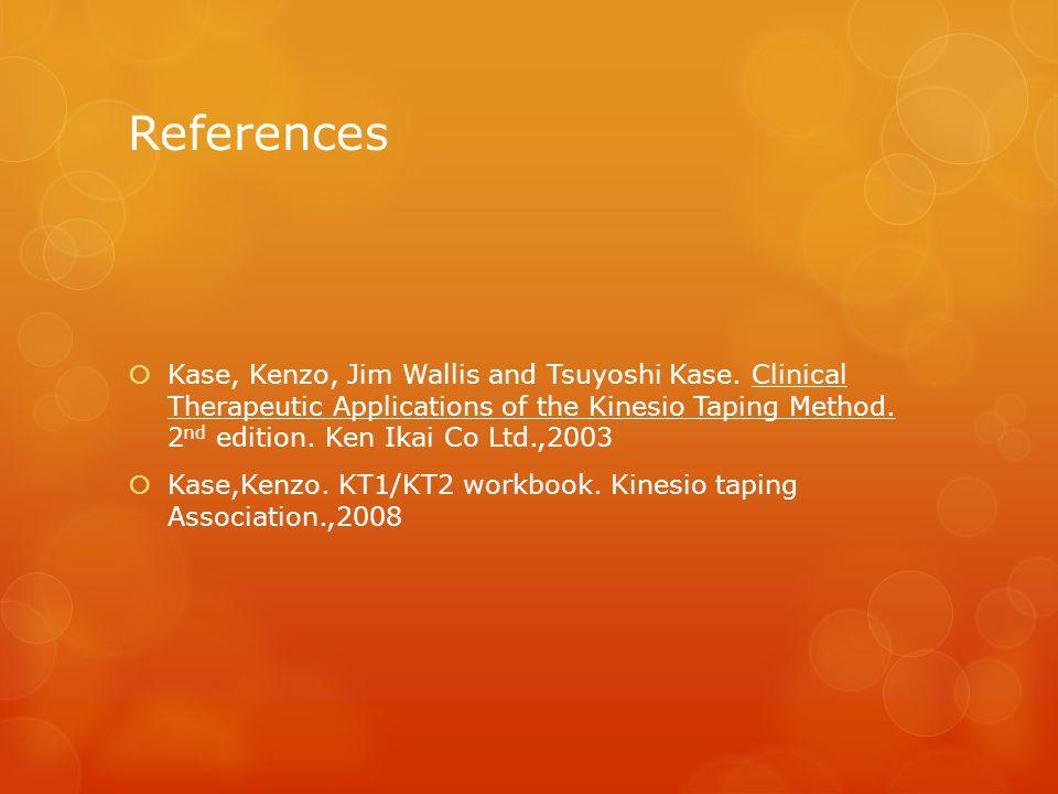 References  Kase, Kenzo, Jim Wallis and Tsuyoshi Kase.