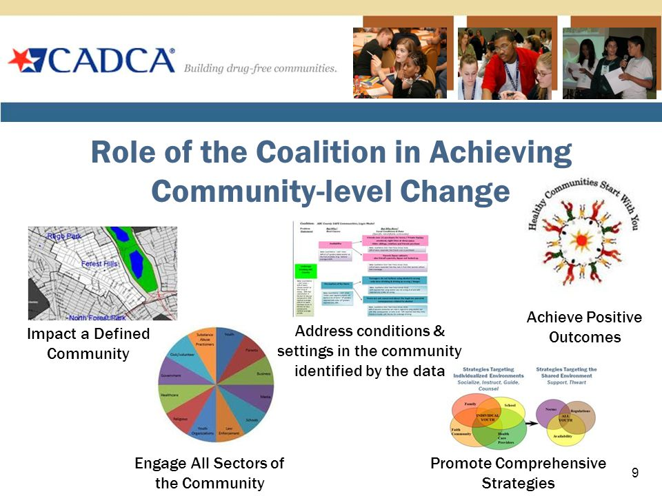 Difference Between Coalitions and Programs CoalitionsPrograms Scale Coalitions measure success by examining community-level indicators.
