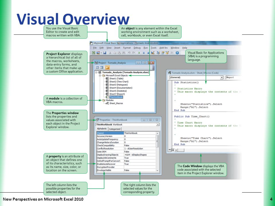 XP New Perspectives on Microsoft Excel 20104 Visual Overview