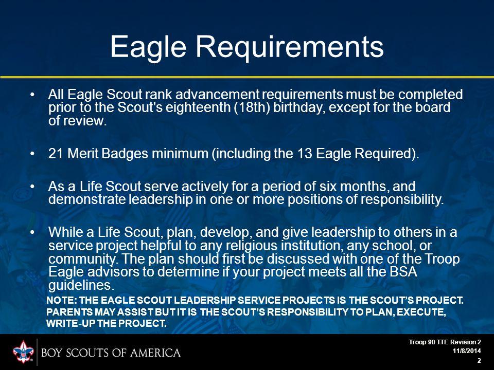 Eagle Scout Workbook 11/8/2014 Troop 90 TTE Revision 2 23