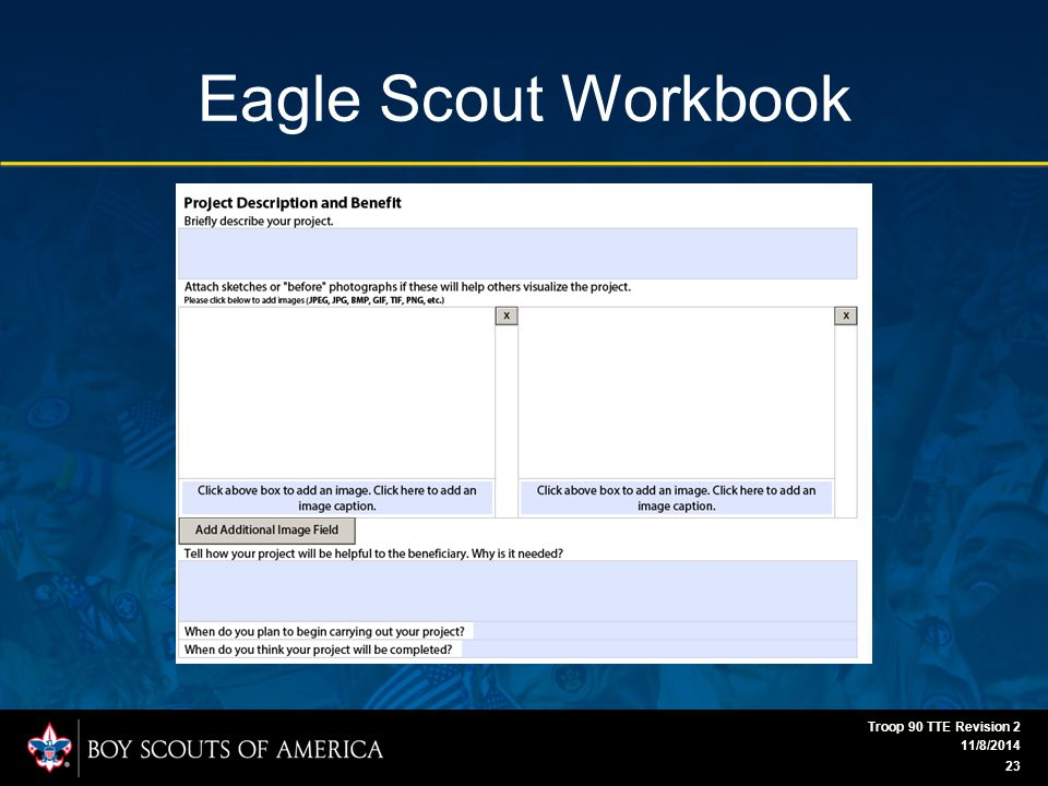 Eagle Scout Workbook 11/8/2014 Troop 90 TTE Revision 2 23
